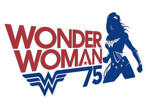 Wonder Woman 75th birthday logo