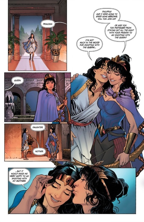 Hippolyta on Themyscira