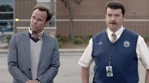 Walton Goggins and Danny McBride in Vice Principals
