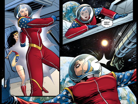 Wonder Woman's spacesuit