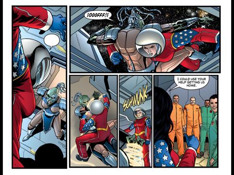 Wonder Woman saves the cosmonauts