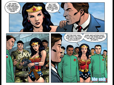 Wonder Woman's message
