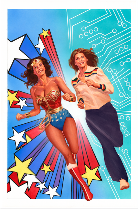 Wonder Woman Bionic Woman crossover comic cover