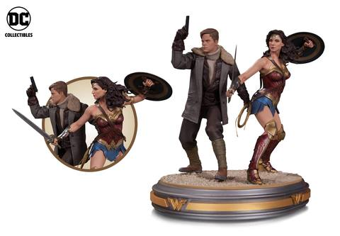 Wonder Woman movie statues
