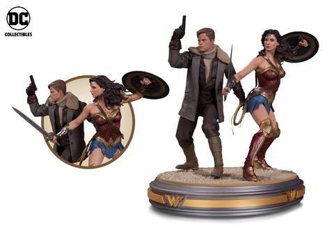 Wonder Woman movie statues