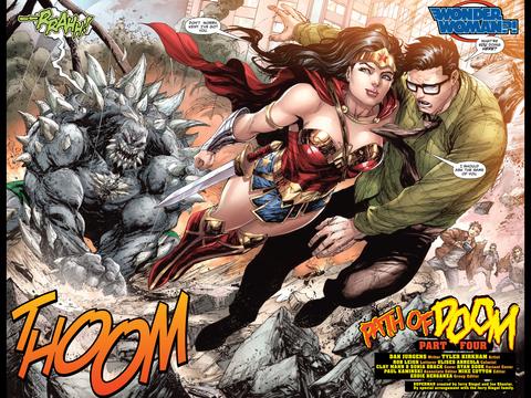 Wonder Woman saves Clark Kent