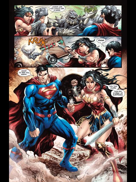 Wonder Woman saves Superman