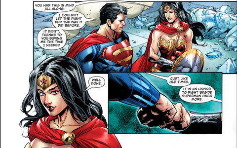 Superman and Wonder Woman together