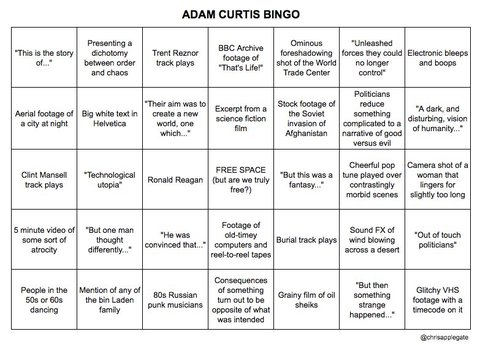 Adam Curtis Bingo