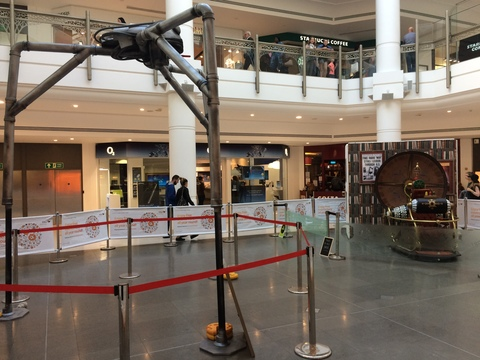 The Intu Bromley HG Wells exhibition