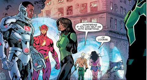 Aquaman and Wonder Woman go off for a chat