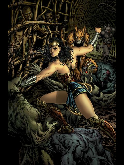 Wonder Woman fights