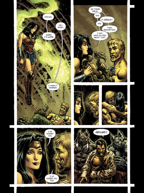 Wonder Woman and Steve Trevor reunited