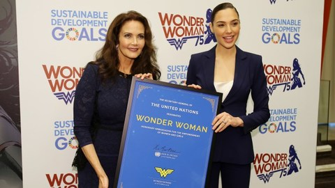 Lynda Carter and Gal Gadot