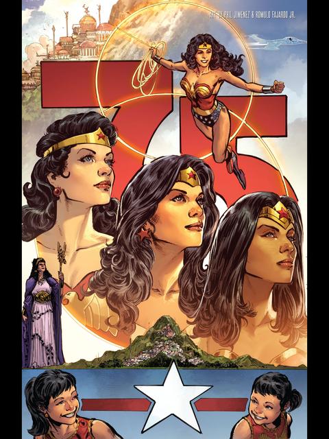 Wonder Woman 75th anniversary tribute by Phil Jimenez