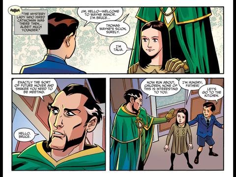 Talia al Ghul meets a young Bruce Wayne