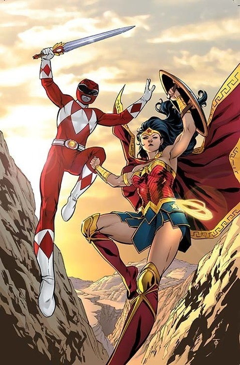 Wonder Woman and Mighty Morphin Power Ranger