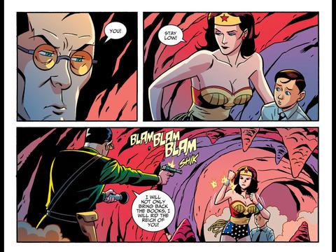 Diana saves Bruce