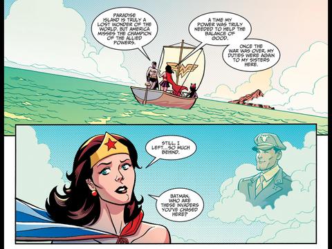 Wonder Woman longs for Steve Trevor