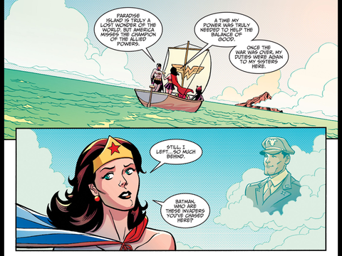 Wonder Woman longs for Steve Trevor