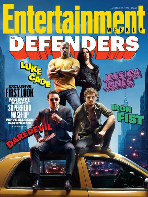 Marvel's The Defenders on the front cover of EW