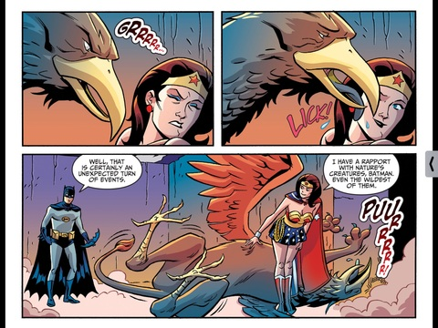 Wonder Woman and a Griffin