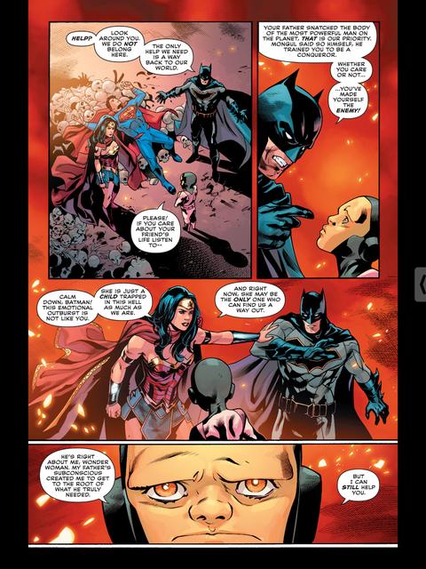 Wonder Woman calms Batman