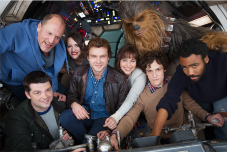 The cast of the Han Solo solo prequel movie