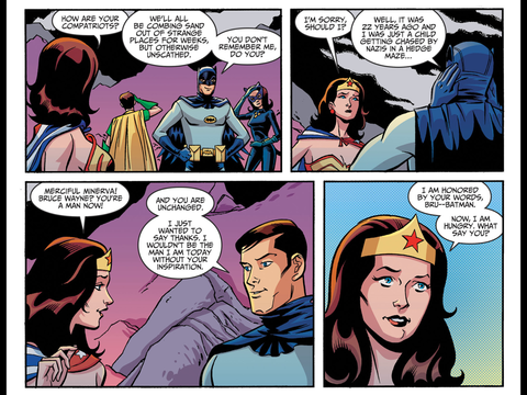 Batman reveals his true identity