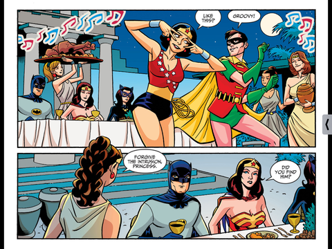 Wonder Girl dances the Batusi