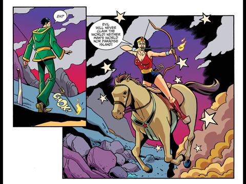 Wonder Girl arrives