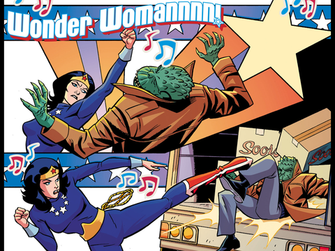 Wonder Woman apprehends Killer Croc