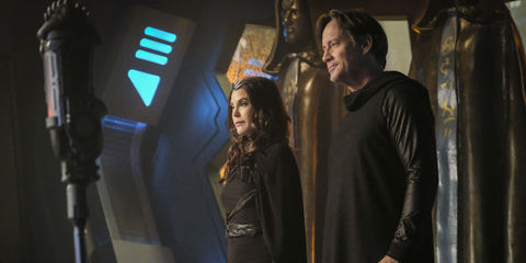 Teri Hatcher and Kevin Sorbo as Mon-El's parents on Supergirl