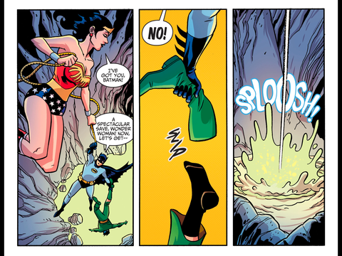 Diana saves Batman but not Ra's