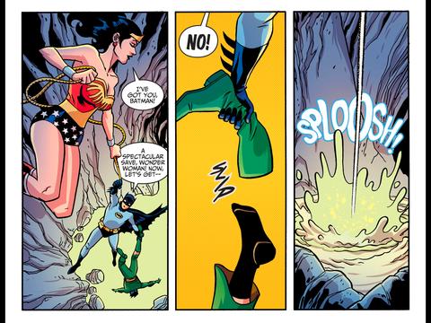 Diana saves Batman but not Ra's