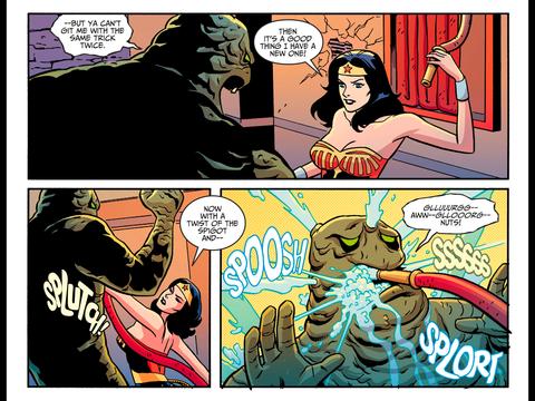 Diana stops Clayface