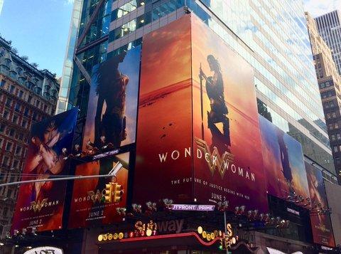 Times Square Wonder Woman billboards