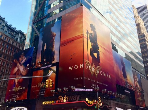Times Square Wonder Woman billboards