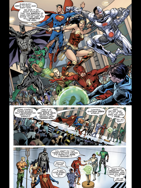 Diana and the Justice League try to stop the problem