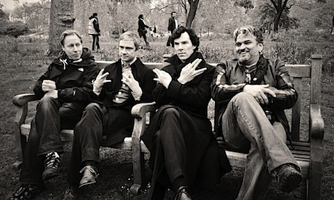 Martin Freeman and Benedict Cumberbatch say Live Long And Prosper