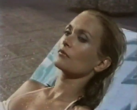 Alexandra Bastedo as Helene in The Aphrodite Inheritance